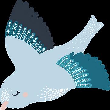 Lastentalo Hyvätuuli päiväkoti lintu kuvitus