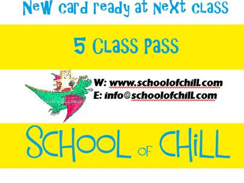 Kids Yoga 5 Class Pass (Additional Sibling)