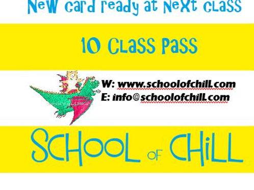 Kids Yoga 10 Class Pass