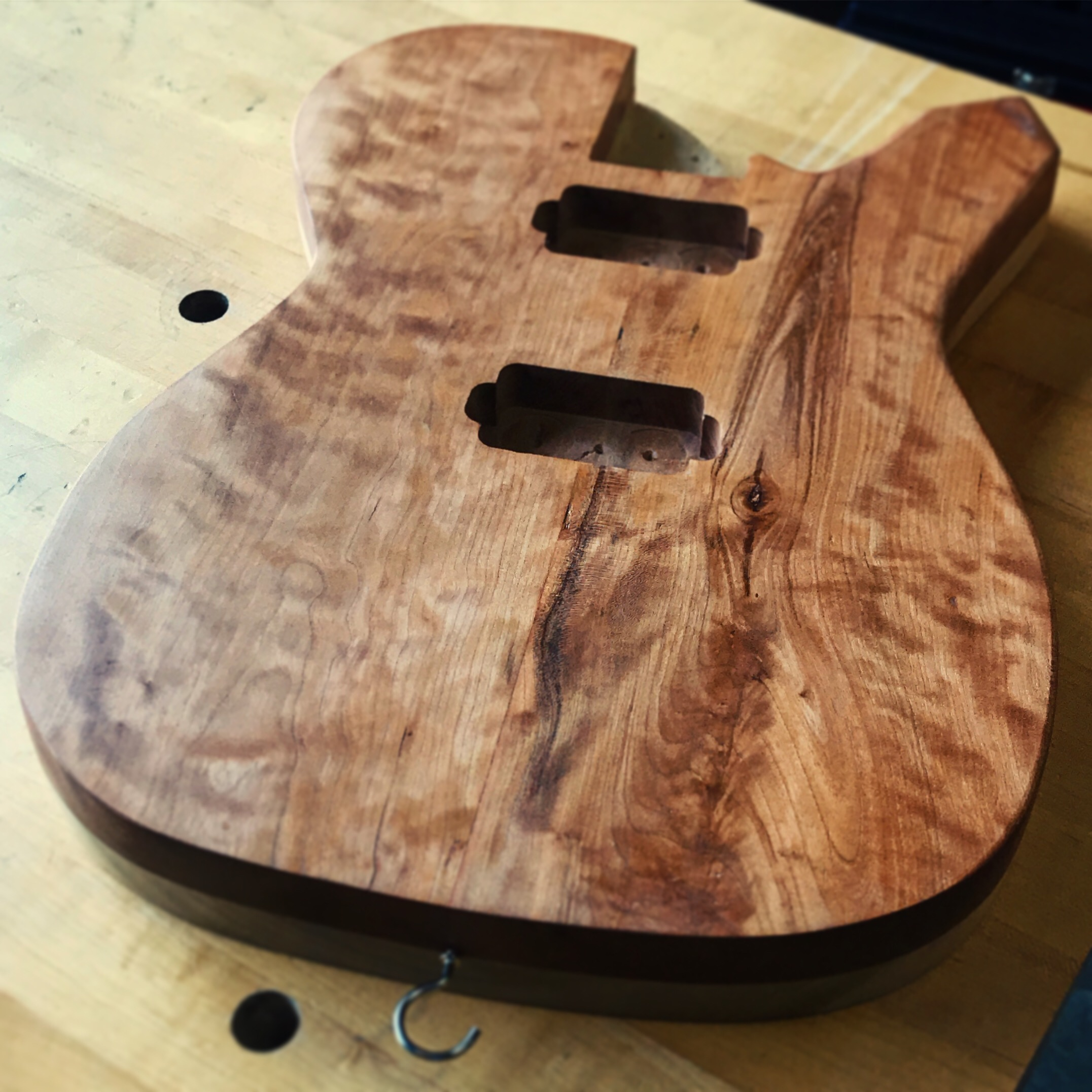 Figured Cherry Guitar Body