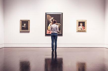 Woman in Art Gallery
