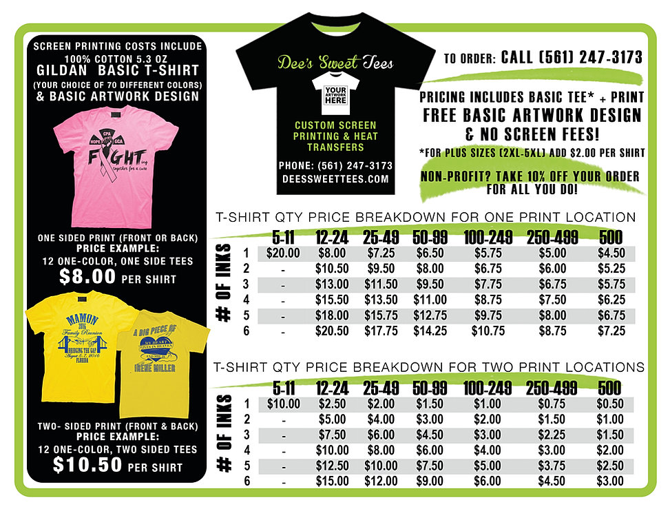 Competitive Silk Screen Printing Prices In Lake Worth Fl
