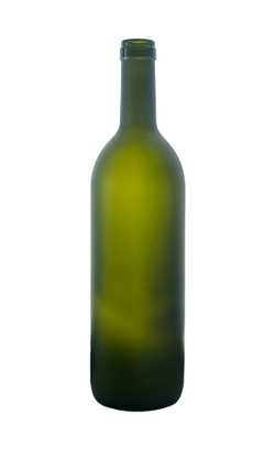 Green Wine Bottle Frosted