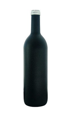 Black Textured Wine Bottle Coating