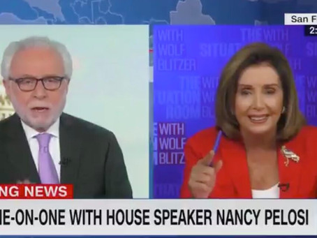 WATCH: Pelosi Suffers Meltdown For The Ages On CNN During Explosive Exchange With Wolf Blitzer