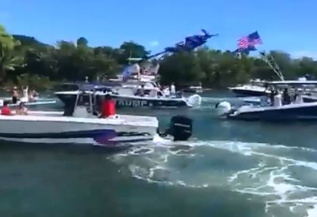 Florida Boaters' Massive Trump 2020 Water Parade Gets Special 'Thank You' from POTUS
