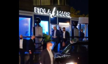 Biden Violates DC's Mask Mandate, Camera Catches Him Walking Through Posh DC Restaurant Maskless