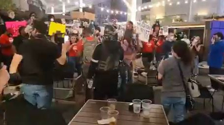 Black Lives Matter Mob Takes Over TX Restaurant, Chant 'Who Burn S—t Down? We Burn S—t Down'