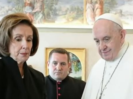 After Meeting With Pope Francis, Pelosi Flees Rome Church Service in Security Incident…(Hecklers?)