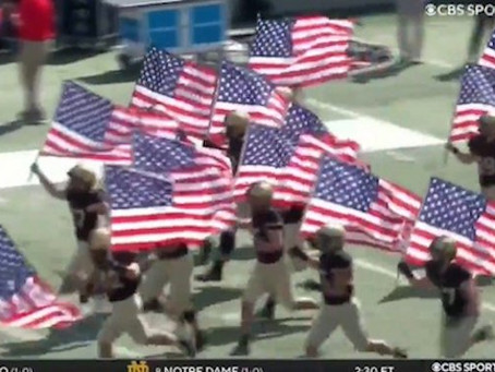 CHILLS: Entire Army Football Team Runs On Field Carrying American Flags