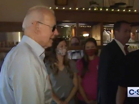 Biden Creeps On Two Girls at Ice Cream Parlor — Father's Response Is Perfect