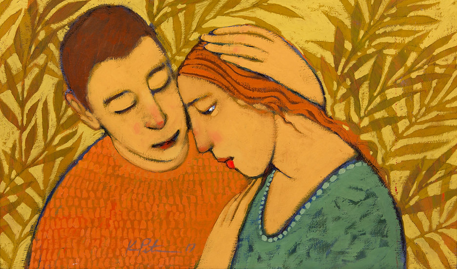 "Hugs/Social Nearness II, (22"" x 14"") Giclée Print"