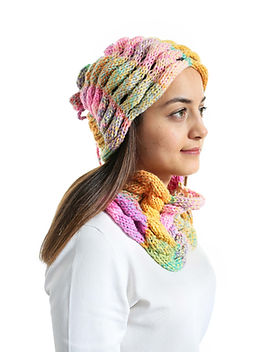 Wheat Ear Of Asian Hat And Neck Warmer P