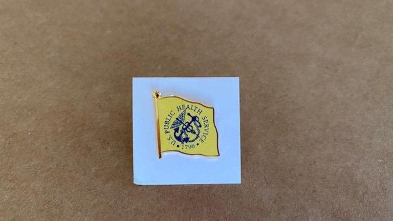 USPHS Lapel Pin-PHS Flag (yellow)