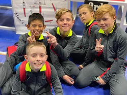 Boys Gymnastics Team at CGC.