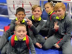 Boys Gymnastics Team at CGC.