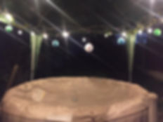 Night time hot tub hire