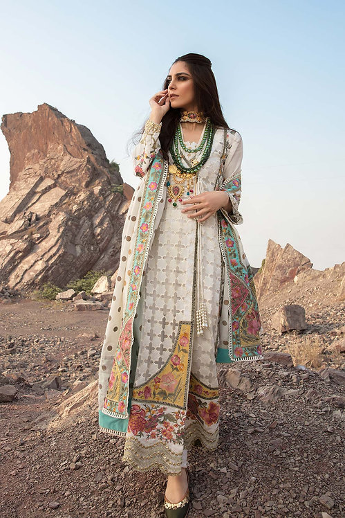 OPAL EMBROIDERED KHADDAR WINTER SUIT