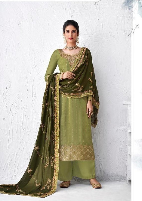 GREEN DOLA SILK SUIT
