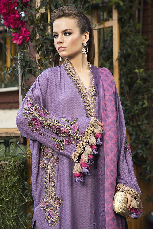 LILAC EMBROIDERED ORGANZA WINTER SUIT