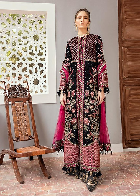 BLACK & PINK PREMIUM VELVET EMBROIDERED LUXURY SUIT