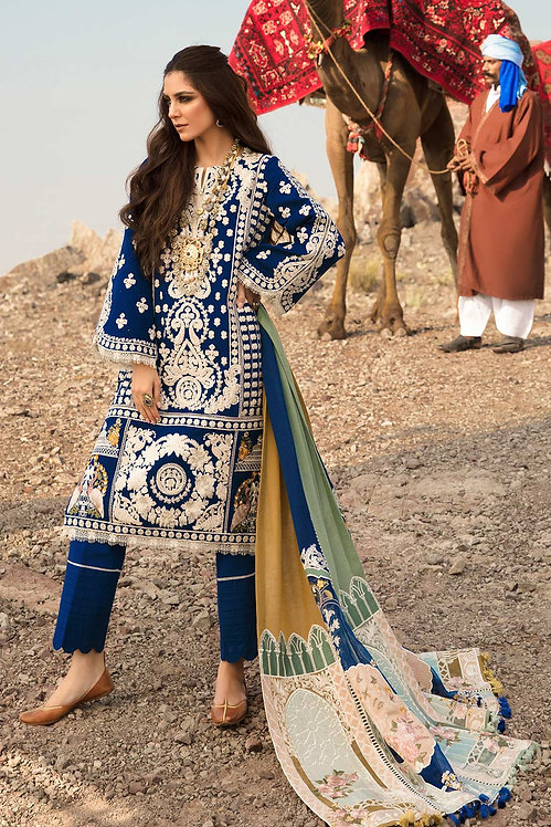 SAPPHIRE EMBROIDERED KHADDAR WINTER SUIT
