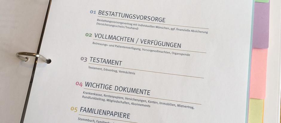 Bestattungsvorsorge-Ordner