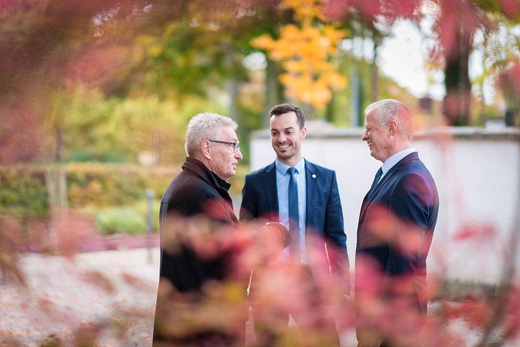 Tobias und Richard Göck im Gespräch mit Peter Ellspermann