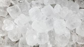 Los bloques de hielo de entrega