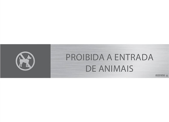 Proibida a Entrada de Animais