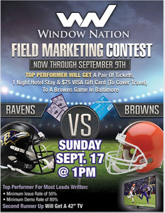 "Window Nation ""Field Marketing Contest"" Flyer"
