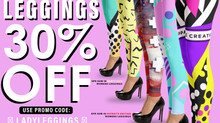 FLASHSALE!! All Womens Leggings 30% OFF