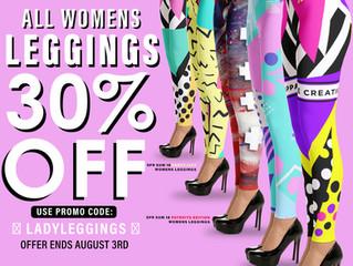 FLASHSALE!! All Womens Leggings 30% OFF