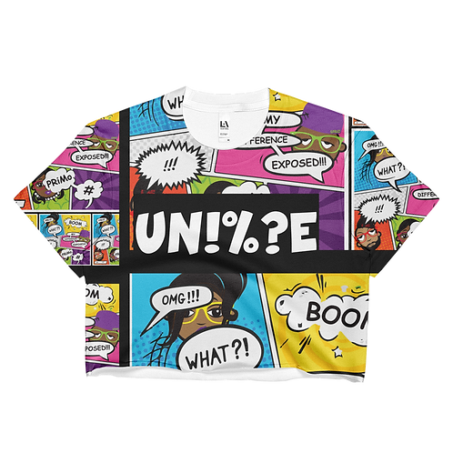 UQC Comix Capsule Womens Crop Top Tee