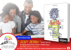 """Uniquely Created """"Just Jerry"""" Book Postcard"""