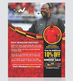Window Nation Partnership With Maryland University Flier