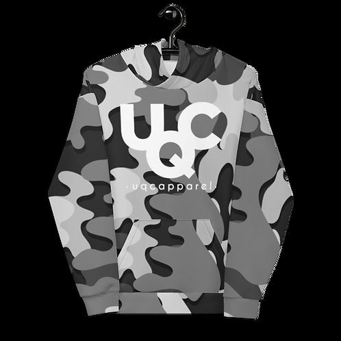 UQC Blk X Wht Ink Camo Pull Over Hoodie