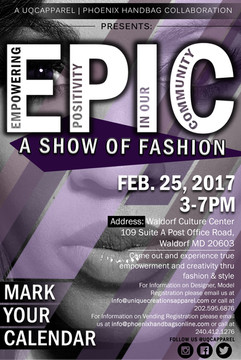 """EPIC """"A Show Of Fashion"""" Fashion Show Event Flyer"""
