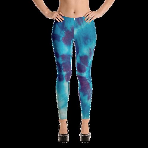 UQC Blue Sunburst Tye Dye Leggings