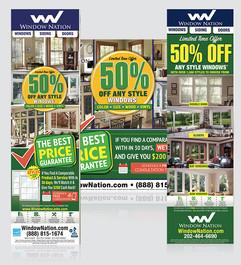Window Nation 50% OFF Newspaper Ads
