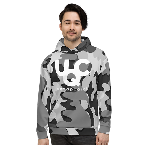 UQC Blk X Wht Ink Camo Pull Over Hoodie
