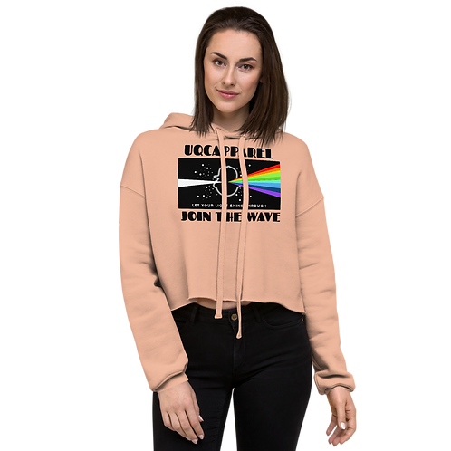 UQC Light Shine Through Ladies Croptop Hoodie