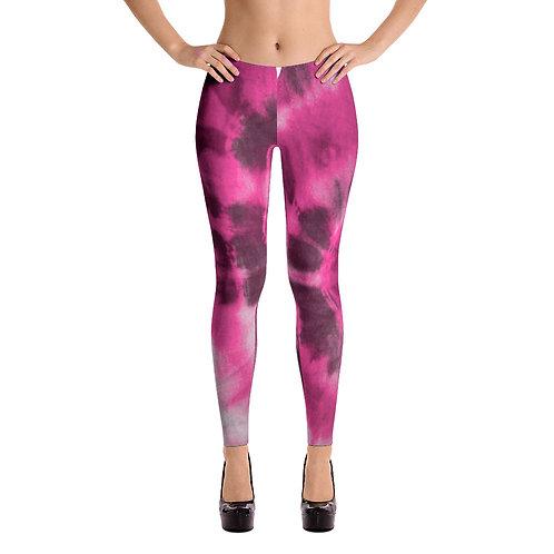 *Breast Cancer Awareness* UQC Pink Sunburst Tye Dye Leggings