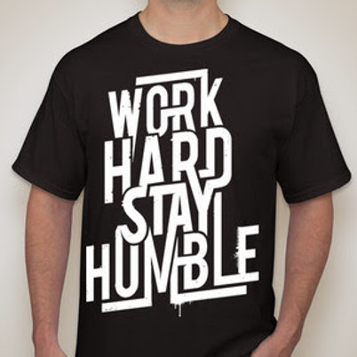 Work Hard, Stay Humble Athletic Shirt