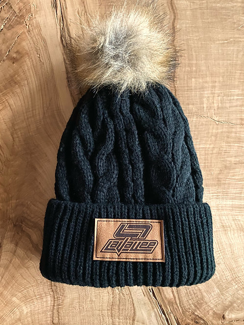 LaVallee Lined Cable Knit Pom Beanie