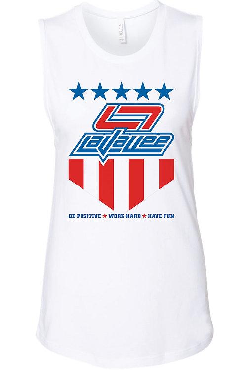 LaVallee USA 2020 Ladies Flowy Muscle Tank