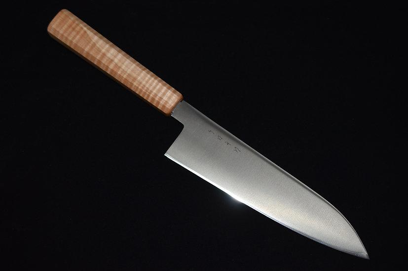 Hitohira Santoku PS60 180mm Bois d'érable Piqué No.16