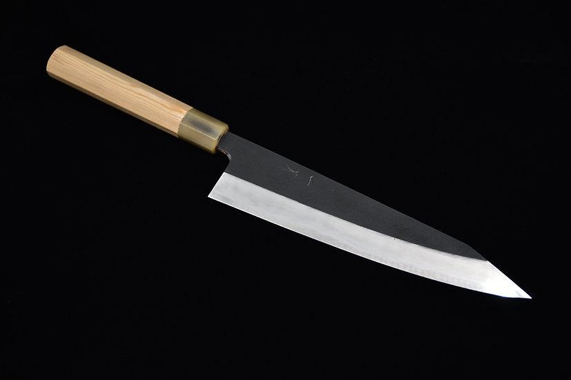 Hitohira Tanaka Kyuzo Aogami#1 Kurouchi Kiritsuke Gyuto 240mm Bois de Cèdre