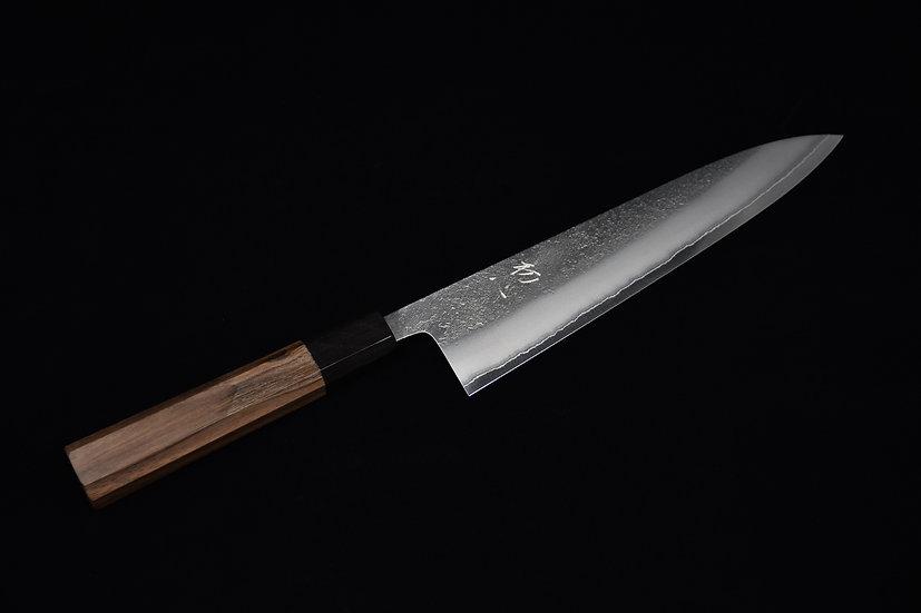 Yoshikane Shirogami # 2 Nashiji Gyuto 210mm Walnut Wood