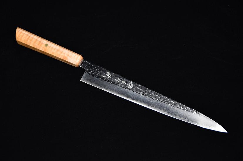 Yu Kurosaki SG2 Senko Sujihiki 270mm Bois d'érable Piqué no.9